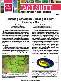 growing ginseng selecting site