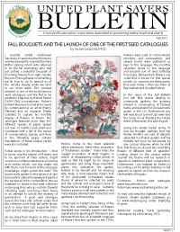 UpS Bulletin Fall 2011