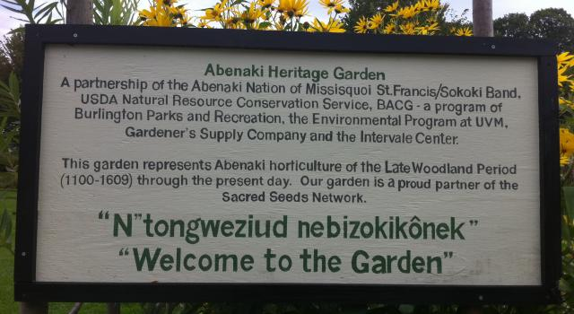 Sacred Seeds at the The Intervale Cente: The Abenaki Heritage Garden