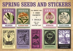 Spring Seeds and Stickers