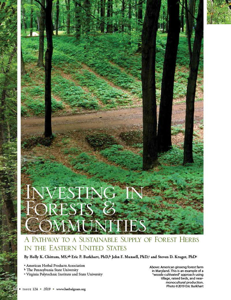 HerbalGram Investing in Forests & Communities
