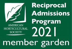 AHS Reciprocal Admissions Program 2021 Member Garden